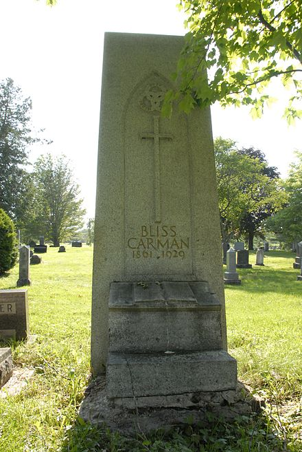 Bliss Carman Memorial, Forest Hill Cemetery, Fredericton NB BlissCarmamMem2 2014.jpg