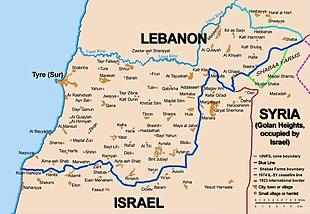 Cartina Libano E Israele.Linea Blu Libano Wikipedia