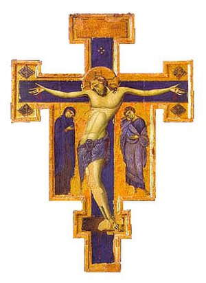 Treasure Museum of the basilica of Saint Francis in Assisi - Image: Blue Crucifixes 01