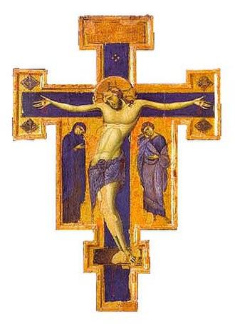 Treasure Museum of the Basilica of Saint Francis in Assisi - Image: Blue Crucifixes 01