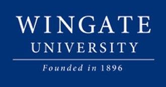Wingate University - Image: Blue wordmark small