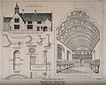 Blundell's School, Tiverton, Devon; with design sketches and Wellcome V0014550.jpg