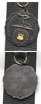 Close-up of medal front and back