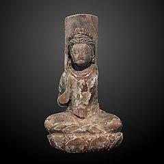 Bodhisattva sitting on lotus-IO 1354