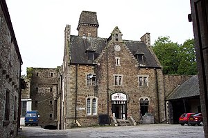 Bodmin Jail - The restored portion of Bodmin Jail (the building in the middle contains a pub and exhibition)