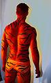 Bodypainted Tiger Human Statue Bodyart (8274611330).jpg