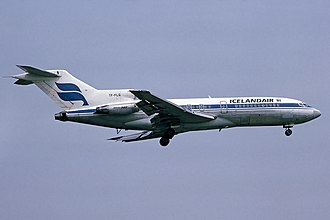 Icelandair - A Boeing 727 of Icelandair approaches London Heathrow Airport in 1983