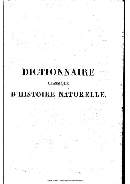 File:Bory de Saint-Vincent - Dictionnaire classique d'histoire naturelle, 9.djvu