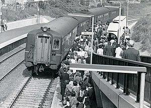 Botanic railway station - MPD unit at Botanic station in 1976