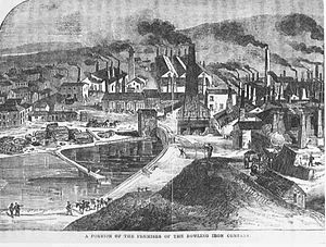 Bowling Iron Works - A part of the ironworks in 1861