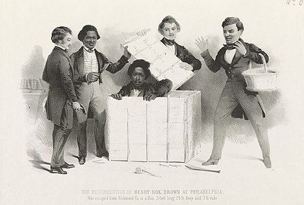 Samuel Rowse, The Resurrection of Henry Box Brown at Philadelphia, lithograph, c. 1850s