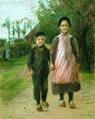 Boy and Girl on a Village Street (ca. 1897).jpg