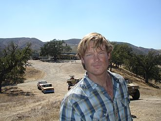 Jericho (2006 TV series) - Brad Beyer, who plays Stanley Richmond, on the set of Jericho