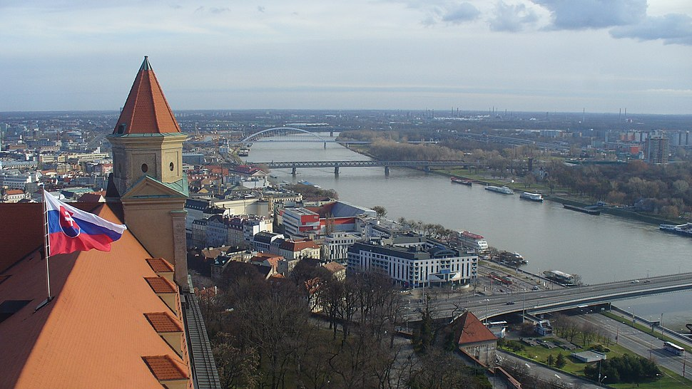 Bratislava view from Crown Tower