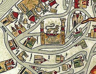 Timeline of Braunschweig - Image: Braunschweig Brunswick Ebstorfer Karte (1300)