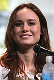 Photo of Brie Larson at the San Diego Comic-Con in 2016.