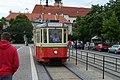 Brno, Moravské náměstí, historická tramvaj.jpg