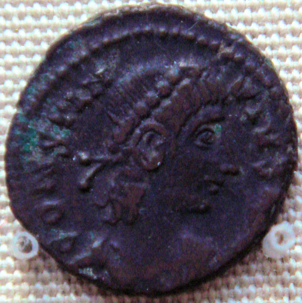Bronze coin of Contantius II 337 361 found in Karghalik