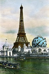 Brooklyn Museum - Paris Exposition-Eiffel Tower and Celestial Globe, Paris, France, 1900 (pd).jpg
