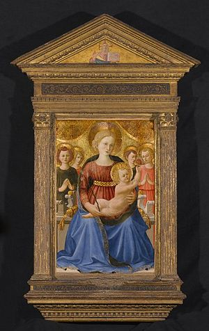 Zanobi Strozzi - Brooklyn Museum - Virgin and Child with Four Angels and the Redeemer - Zanobi Strozzi