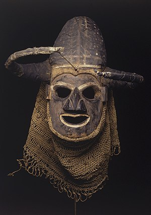 Yaka people - A Yaka people's mask at the Brooklyn Museum.