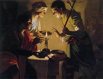 Esau - Esau Selling His Birthright (painting circa 1627 by Hendrick ter Brugghen)