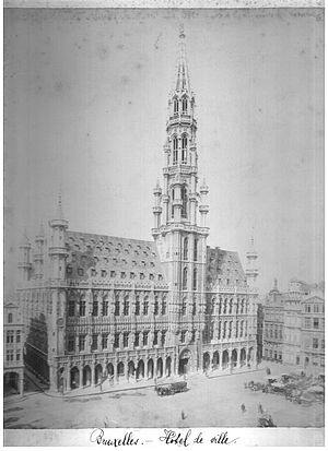 Brussels Town Hall - Brussels Town Hall, around 1880