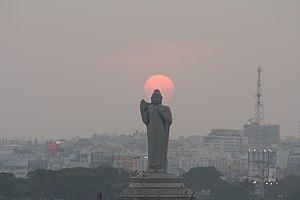 Buddha Statue of Hyderabad - Image: Buddha Statue Hussain Sagar 0188