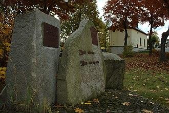 Budišovice - Image: Budišovice, pamětní kámen