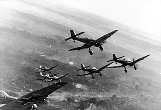 "Blitzkrieg - The Ju 87 ""Stuka"" dive-bomber was used in blitzkrieg operations"