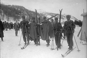 Military patrol at the 1928 Winter Olympics - The German team.