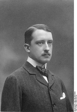 Edingen-Neckarhausen - Count Alfred von Oberndorff.