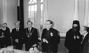 John Arnold (priest) - Arnold speaking on occasion of the regional Kirchentag in East Berlin, 1987