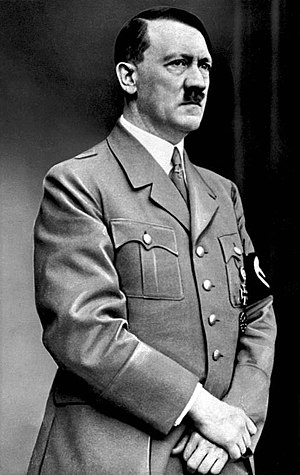 Adolf Hitler, leader of Nazi Germany (1933-1945) Bundesarchiv Bild 183-S33882, Adolf Hitler retouched.jpg