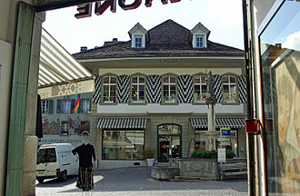 Burgdorf, Switzerland - Kronenplatz in Burgdorf, part of the old city