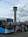 Bus stop and control tower, Luton Airport - geograph.org.uk - 1965880.jpg
