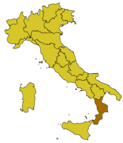 Location of Reggio di Calabria