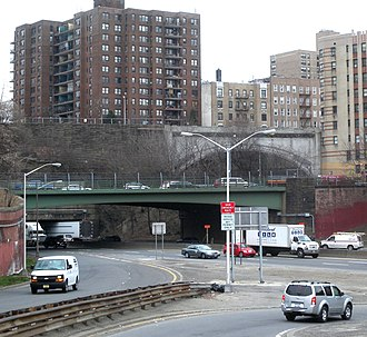 Cross Bronx Expressway - The Expressway traverses beneath Walton Avenue and Grand Concourse.