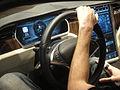 CES 2012 - NVIDIA Tesla Model S dash (6791587194).jpg
