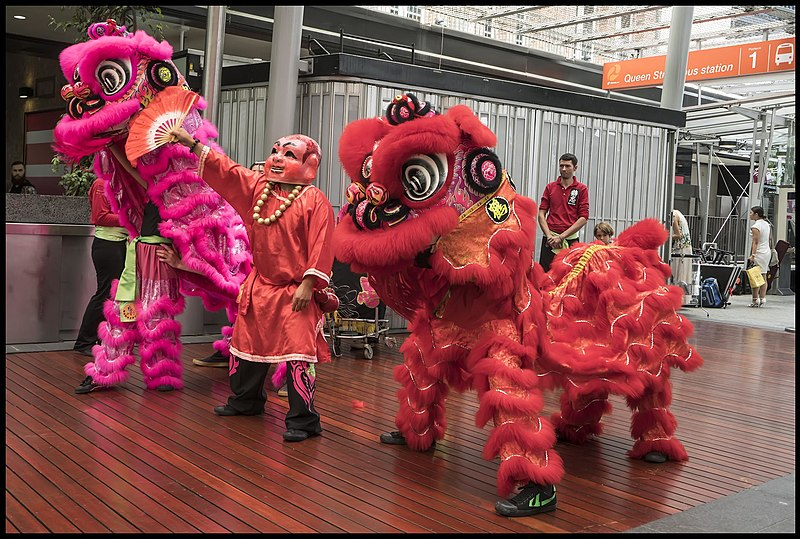 Chinese New Year in Brisbane Queen St Mall, Australia. (28 January 2017, 12:26:28)