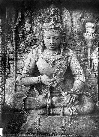Lokapala - The 9th century Hindu Lokapala devata, the guardians of the directions, on the wall of Shiva temple, Prambanan, Java, Indonesia.