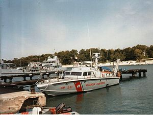 SS London Valour - A coastguard boat of the same Super Speranza class and year (1968) as CP 233