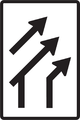 C 21 - Usporiadanie jazdných pruhov (pripojenie pravého pruhu bez pripájacieho pruhu).png