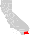 California county map (Imperial County highlighted).svg