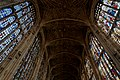 Cambridge - King's College Chapel 1446-1544 - Antechapel - View Up & East on Fan Vaults, Stained Glass & Tudor Roses.jpg