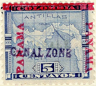 Postage stamps and postal history of the Canal Zone - 5-cent, Issue of 1904