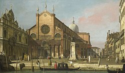Canaletto: Venice: The Campo SS. Giovanni e Paolo