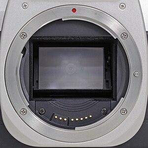 Canon EF lens mount - The EF mount of a Canon EOS 50