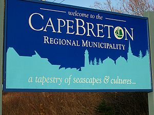 Cape Breton Regional Municipality - Cape Breton Regional Municipality welcome sign