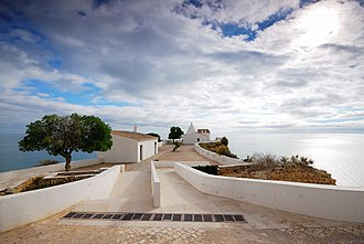 Lagoa, Algarve - View of the Fort and Chapel of Our Lady of the Rock.